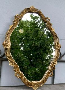 Barock Wandspiegel Gold Oval Spiegel Antik 41x30 Rokoko Badspiegel Shabby Prunk