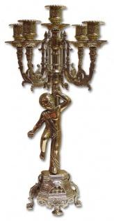 Kerzenständer Messing Engel Kerzenleuchter Mehrarmig Gold 41cm Massiv Kandelaber