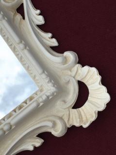 Wandspiegel Barock Antik Weiß 38x36 Barspiegel Beige Bad Spiegel Rahmen - Vorschau 5