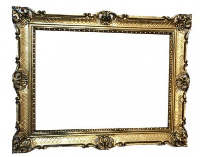 Bilderrahmen Barock Gold-Schwarz 50x70 jugendstill Antik Rechteckig 90cmx70cm