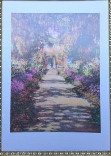 Landschafts Bilder 70x50 CLAUDE Monets Garden Bild MDF Platte Rahmenlos Garden02