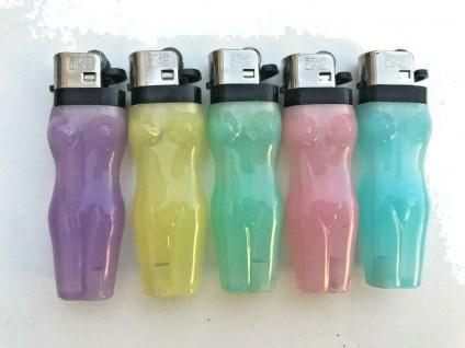 30 x Feuerzeuge Frauen Motiv bunt nachfüllbar Neon Feuerzeug NEU Restposten - Vorschau 2