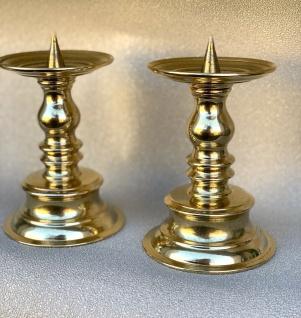 1 x Kerzenhalter Gold Kerzenständer Messing Poliert 15-19cm Kandelaber Leuchter