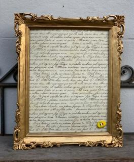 Bilderrahmen Gold Antik Barockrahmen 17 x 23 cm Fotorahmen Shabby 24x29cm Deko
