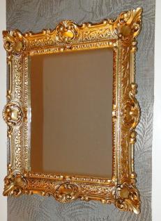 Vintage Wandspiegel ANTIK SPIEGEL BAROCK 57X47 Bad Spiegel Gold Rechteckig