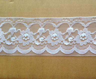 Spitzenborte Spitzenband 8cm Häkel- Spitze Tüll Spitze Kissen Deko Stickerei - Vorschau 2