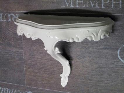 Wandspiegel Konsole Weiß 23, 5x18x 10 Antik Regale mini Ablage Telefontisch - Vorschau 3