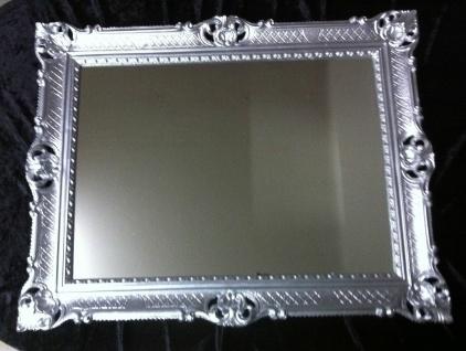Wandspiegel silber 90x70 Spiegel BAROCK Rechteckig Antik mirror rechteckig NEU - Vorschau 3