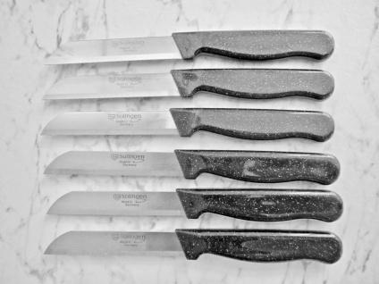 12 x Solingen Gemüse/Obstmesser Schälmesser Allzweckmesser Küche Schwarz Glitzer