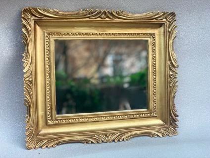 Barock Spiegel Gold Wandspiegel Antik Rechteckig 33x28 Modern Deko Spiegel