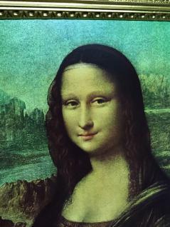 Gemälde Mona Lisa von Leonardo da Vinci barock 90x70 Bild mit Rahmen gold Antik - Vorschau 4