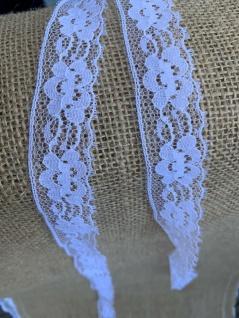 10 Meter Spitzenborte tüllspitze Weiß 25mm Tüllband Spitze Hochzeitsdeko Angebot - Vorschau 2