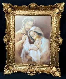 Bild Heilige Bild 57x47 Antik Rahmen Jesus Christus Maria Mutter Gottes Josef - Vorschau 1
