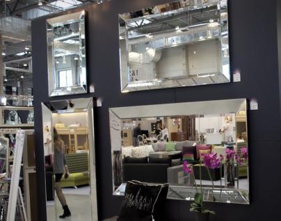 Wandspiegel MODERN 180x80 Glas Rahmen Spiegel ohne Rahmen Groß Friseurspiegel