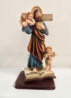 Christliche Kruzifix Jesus Christus Figur Krippenfigur 20x11 Herrgott Engel Baby