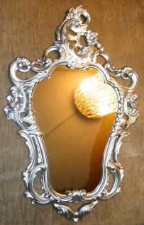Wandspiegel SILBER Barock Spiegel Badspiegel Flurspiegel 50X76 Silber Spiegel