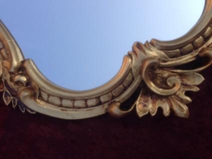 Wandspiegel Antik Gold Oval Retro 50x35 Vintage Barock Spiegel Badspiegel C444G - Vorschau 5