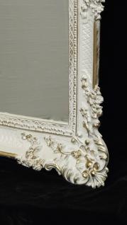 Wandspiegel Barock Weiß-Gold Spiegel Antik 96x57 mit ornamenten Badspiegel -206 - Vorschau 4