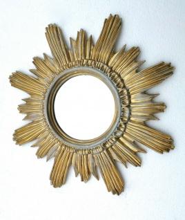 Wandspiegel Sonne Gold-weiß Retro ANTIK BAROCK Badspiegel 42cm mirror Deko