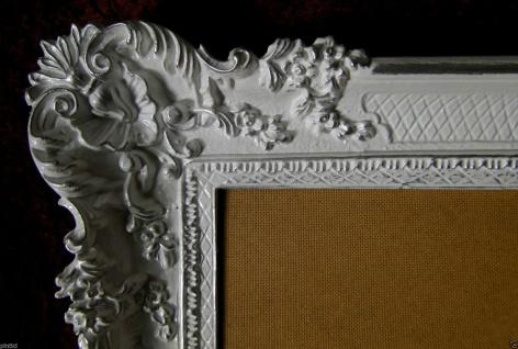 Bilderrahmen Weiß Silber Barock Gemälderahmen Prunk 97x57 Fotorahmen Antik - Vorschau 4