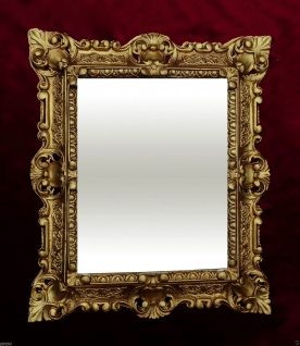 Bilderrahmen barock Gold Rechteckig 45x37 Foto Spiegelrahmen Gemälderahmen
