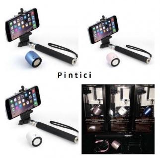 Selfie-Stick mit integriertem Bluetooth-Lautsprecher und Freisprechfunktion