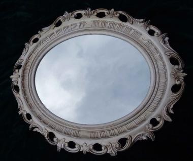Bilderrahmen Antik Silber Oval Rokoko Fotorahmen 58x68 Prunkrahmen mit Glas