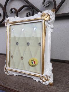 Bilderrahmen Weiß Gold Barock 14x12 Fotorahmen Antik Rahmen Jugendstil Deko - Vorschau 2