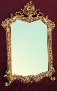 Wandspiegel Gold Antik Badspiegel 54X37 Shabby Flurspiegel Barock Spiegel c499 - Vorschau 2