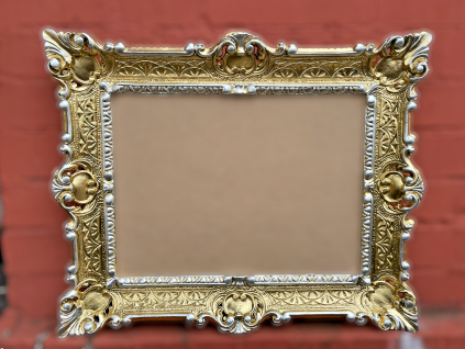 Bilderrahmen barock 56x46 Fotorahmen Antik Bilderrahmen Gold Silber 30x40 Prunk