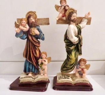 2 x Christliche Kruzifix Jesus Christus Krippe Figuren Herrgott Engel Baby