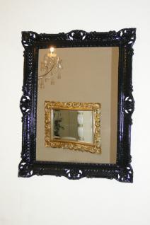 Wandspiegel 90x70 Spiegel BAROCK Badspiegel Rechteckig Antik REG 3057 Schwarz 1 - Vorschau 5