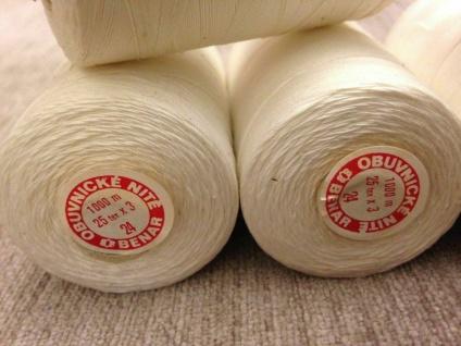 6 x Overlockgarn 25/3 Polyester Weiß Nähgarn 1000 M. Nähseide Nähmaschinengarn - Vorschau 3