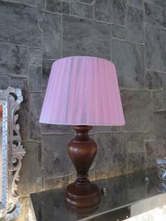 Schreib / Tischlampen Tischleuchte 32 cm Antikstill Stoff Nachtlampe chiffon