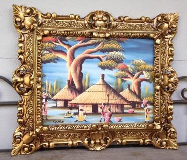 Bild mit Rahmen Landschaftsbild Rechteckig 45x38 Barock Kamango Afrika Bild
