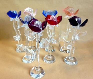 Rosen Blumen aus Glas Vitrinen objekt Angebot Restposten Rosenglas Blumenglas