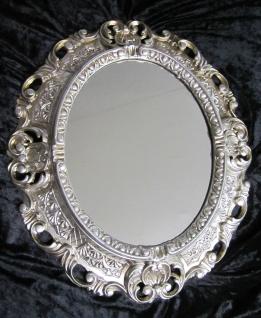 Wandspiegel Spiegel Barock Antik 345 Antiksilber 45x38 Oval 1 - Vorschau 2