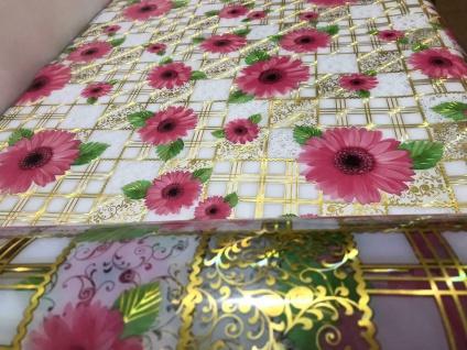 Tischschutz Folie 2 mm PVC Schutzfolie Tischdecke Meterware 90-100cm Blumen