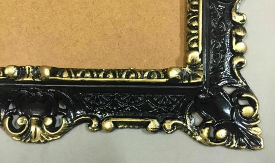 Wandspiegel Schwarz gold 45x38cm Barock Spiegel Badspiegel Prunk Spiegel Antik