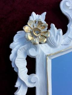 Wandspiegel Barock Weiß gold Spiegel Antik Badspiegel Barspiegel 83x43 Oval C1G - Vorschau 5