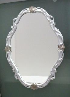 Wandspiegel Weiß Silber Spiegel Antik Wanddeko Badspiegel Shabby Barock C26SV - Vorschau 2
