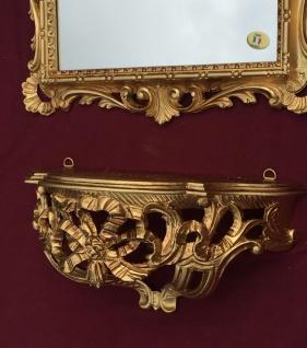 Wandspiegel mit Konsole Barock Gold mit Glas 38x36 Badspiegel Ablage Antik C533 - Vorschau 5