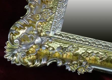 Wandspiegel Antik Barock GOLD-Silber Spiegel Repro DEKO 97x57 Groß Ornamente - Vorschau 3