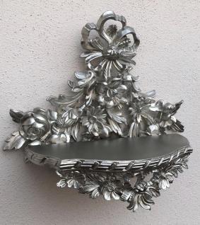 Wandkonsole Barock/ Spiegelkonsole Antik Konsole 38x35 Silber Konsolen Tisch