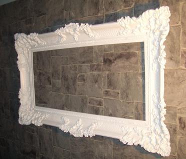Bilderrahmen Barock Weiss mit Glas Gemälde Rahmen 97x57 Prunkrahmen Fotorahmen