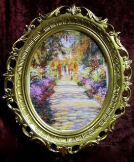 Gemälde von Monet The Garden Blumen Bild Bilderrahmen Wandbild Antik 58X68
