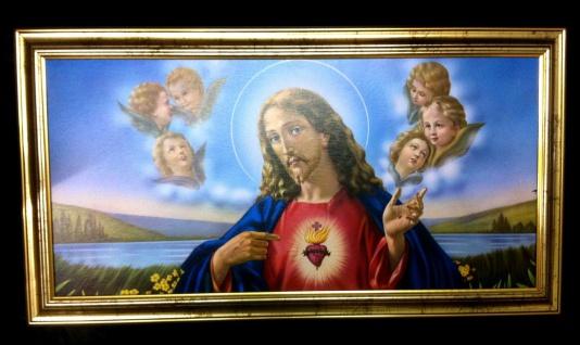 Bilder Gerahmte Gemälde mit Rahmen Bild mit Rahmen 77x42 Jesus Christus Ikonen