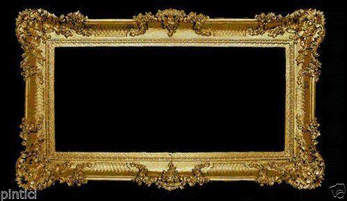 Bilderrahmen Antik Gold Hochzeitsrahmen Barock 96x57 Prunkrahmen Gold Rahmen