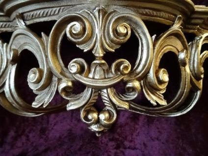 Regal Wandkonsole Gold BAROCK Spiegel KONSOLE 50x20x24 ANTIK ornamente C72 - Vorschau 4