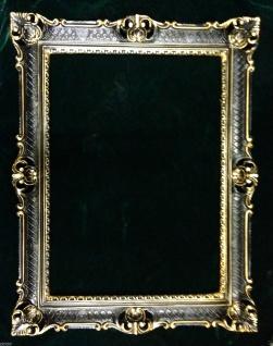 Fotorahmen Bilderrahmen Schwarz Gold Antik 90x70 Barock Gemälderahmen - Vorschau 2